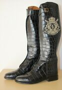 Luxury Billionaire Crocodile Polo Zip Up Boots Made In Italy Uk8 It 42 Us 8.5