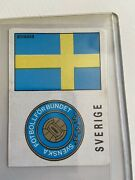 Panini Mexico 70 Sweden - Flag And Shield Emblem - Excellent Condition