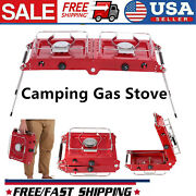 Foldable Cooking Double Burners Picnic Gas Stove Outdoor Camping Gas Stove U2a6