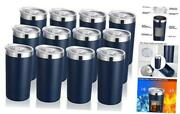 Oz Tumbler With Lid, Stainless Steel Insulated Coffee Travel Mug, 12 Navy