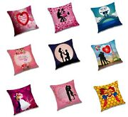 Valentineand039s Day Couple Printed Pillow Case Sofa Cushion Cover Home Wedding Decor