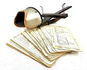 Antique Wooden Stereo Viewer / Stereoscope And Underwood And Underwood Slide Job Lot