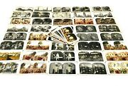 Antique Set Of Stereo Viewer / Stereoscope Coloured Slide / Cards Job Lot