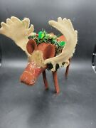 Annalee Doll 2006 Christmas Moose Standing With Neck Christmas Wreath 7