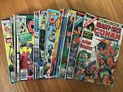 Huge Bronze Age Conan The Barbarian Marvel Comic Book Lot 29 Issues Red Sonja