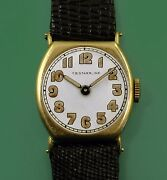 Vintage 1919 Omega 14k Yellow Gold For Starr Ny Small Menand039s Or Unisex Watch