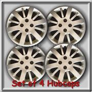 4 15 Silver Bolt On Chevy Chevrolet Cobalt Hubcaps 2009 2010 Wheel Covers