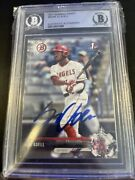 2017 Bowman Draft Jo Adell Signed Authentic Auto Beckett Certified