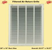 Filtered Air Return Vent Cover 20 X 16 Duct Size Grille Ceiling Wall White