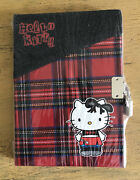 Hello Kitty Diary Journal With Lock Black Red Plaid