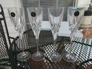 4 Royal Doulton 24 Lead Crystal Wine/champagne Flutes.read Detail On 'elegance'