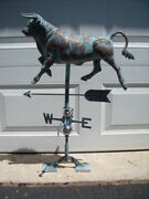 Bull 3d Steer Weathervane Antiqued Copper Finish Cow Weather Vane Hand Crafted