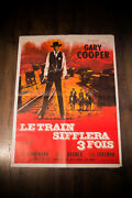High Noon Gary Cooper 24 X 32 Fold French Moyenne Movie Poster Rerelease 1962