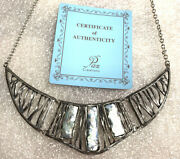 Nwt Or Paz Roman Glass Sterling Silver 925 Statement Necklace Made In Israel