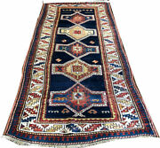 A Decorative Antique 4and039 X 9and039 Caucasian Shirvan Runner Rug