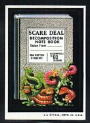 Scare Deal Note Book 1973 Topps Wacky Packages Series 6 Exmint Nice Corners
