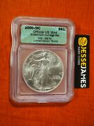 2000 W 1 American Silver Eagle Icg Ms70 From Millennium Coin And Currency Set