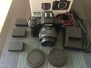 Canon Eos M50 Mirrorless Camera 15-45mm Lens Black With 3 Batterys