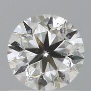 0.90 Ct Natural Diamond Gia Certified 6 X 5 Mm Round Brilliant Loose M/si2 Grade