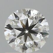 0.90 Ct Natural Diamond Gia Certified 5 X6 Mm Round Brilliant Loose M/si2 Grade