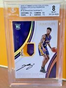 2016-17 Immaculate Gold Brandon Ingram Rookie Patch Auto Rpa Rc /10 Bgs 8/10