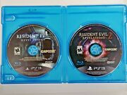 Resident Evil Revelations 1 And 2 Playstation 3 Ps3 Lot Disks Only Horror Survival