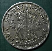 Britain 1948 One Half Crown 1 / 2 Crown Cent Pence 1 Coin Low Shipping