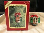 Carlton Cards Pinecone Cottage Snug In Their Beds Lighted Christmas Ornament Mib