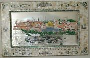 Alaqsa Mosque Islamic Holy Quran Huge Plate Mother Of Pearl Jerusalem Hand Made