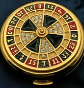 Estee Lauder Jeweled Roulette Wheel Lv Lucky Lady Lucidity Powder Compact