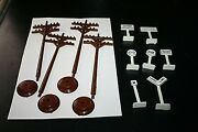 Train Accessory Lot Telephone Poles And Signs Train Crossing Stop Sign -u