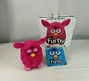 2012 Hasbro Hot Pink Furby With Box Instructions Interactive Toy Cute Works