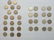 1948-1963 Franklin Half Dollar Complete 35 Coin Collection