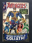 Avengers 28 1st Appearance Of Collector Hank Pym Becomes Goliath Marvel 1966