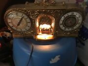 Working Vintage Mid Century Mastercrafters Fireplace Motion Clock / Temperature