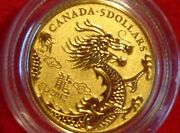 2012 5 Year Of The Dragon Pure Gold Coin - 1/10 Oz