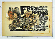 Freda And The Firedogs @ Tumble Weed Inn Micael Priest 1972 Original Paste-up