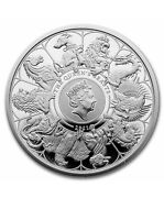 In Stock - 2021 Gb 1 Oz Silver Queenand039s Beasts Collector Proof W/box And Coa