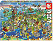 Educa European Landscapes Mark Buildings 1000 Adult Stress Relief Puzzle Toy New