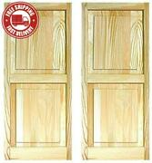 Ltl Home Products Shp39 Exterior Solid Wood Raised Panel Window Shutters, 15 X 3