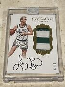 🔥 2017 Flawless Larry Bird Gold Auto 2 Color Patch /10 Panini 🔥 Game Worn