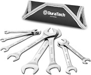 Duratech Super-thin Open End Wrench Set Sae 8-piece Including 1/4 9/32 5/