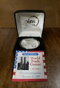2001 9/11 World Trade Center One Troy Ounce .999 Fine Silver Coins Of America