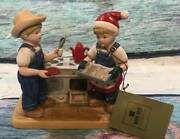 Htf Homco Home Interiors Denim Days Cookies For Santa W/tag 59177-6 Excellent