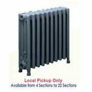 Cast Iron Radiator For Steam And Hot Water Systems 4 Tubes 19h X 4 1/2w