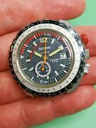 Vintage Sicura Chrono Divers Watch To Restore - Great Condition Ticking Ac98