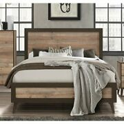 Bedroom Set Distressed Wood King Queen Full Size Bed Nightstands Dressers A468
