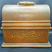 Edison Standard Phonograph Model A With Model C Reproducer, No Horn, Works