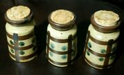 3 Three Vintage Kasuga Ware Bottles With Cork Tops Bottle Collectible