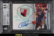 2005 Exquisite Collection Nameplate Vince Carter Patch Auto /25 Bgs 8.5 Nm-mt+